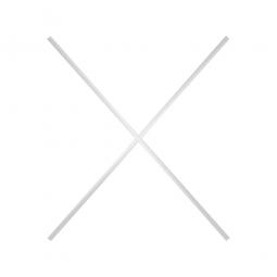 N12 Aluminium-Diagonalkreuz für Aluminiumregale mit Gitterregalböden aus Kunststoff