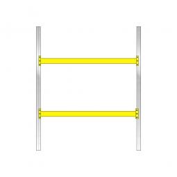 Palettenregal mit 2 Paar Tragbalken für 9 Europaletten, Fachlast 1800 kg/Tragbalkenpaar, BxTxH 2925 x 1100 x 3500 mm