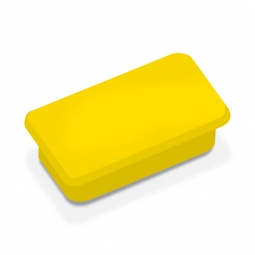 Haftmagnete, gelb, eckig 23x50 mm, Haftkraft 1000 g, Paket=10 Magnete