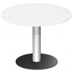 Rundtisch, Tischplatte weiß ØxH 1000 x 720 mm