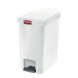 Tretabfalleimer SlimJim, 30 Liter, weiß, LxBxH 497x312x566 mm, Polyethylen, Pedal an der Schmalseite