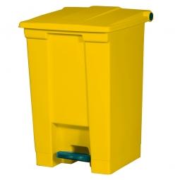 Tret-Abfallbehälter, 68 Liter, gelb, BxTxH 500 x 410 x 675 mm