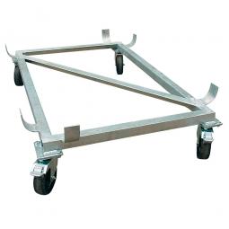 Rollwagen für Rechteckbehälter 300 Liter, Gewicht 14 kg, feuerverzinkt