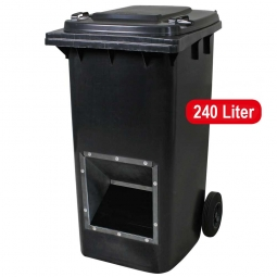 Streugutbehälter, Inhalt 240 Liter, anthrazitgrau, mit Entnahmeöffnung, BxTxH 580 x 730 x 1075 mm