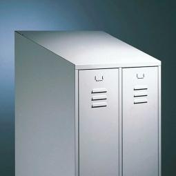 Schrägdach für Abteilbreite 300/400 mm, Schrank hinten 200 mm höher (Mehrpreis/Abteil)