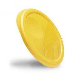 Deckel für runde Lebensmittelbehälter, gelb, HxØ 345 x 30 mm, mit Dichtlippen