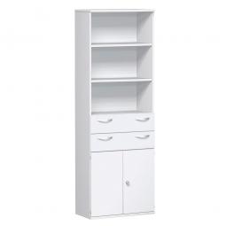 Modulschrank PRO 6 Ordnerhöhen, weiß, HxBxT 2304x1000x425 mm