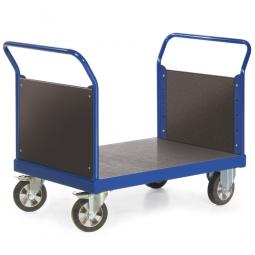 Zweiwandwagen mit Holzwand, LxBxH 1500x800x1050 mm, Tragkraft 1200 kg