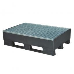 Sicherheits-Auffangwanne aus Kunststoff, schwarz, LxBxH 1200 x 800 x 315 mm, Tragkraft 1000 kg