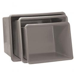 Rechteckbehälter aus GFK, Inhalt 1100 Liter, grau, LxBxH 1620x1190x810 mm, Gewicht 36 kg