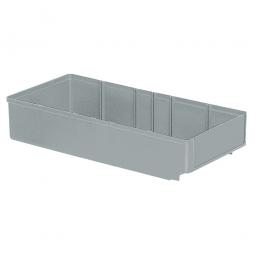 Regalkasten, grau, LxBxH 400x186x83 mm, Polystyrol-Kunststoff (PS), Gewicht 340 g
