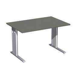 Schreibtisch PREMIUM höhenverstellbar, Rechteck, Graphit/Silber, BxTxH 1200x800x680-820 mm
