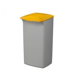 Abfall- und Wertstoffsammler mit Schanierdeckel, HxBxT 640x366x320 mm, 40 Liter, grau/gelb