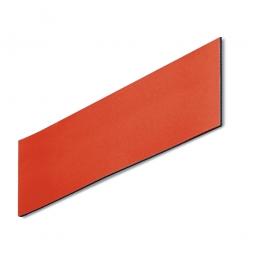 Magnetschilder, VE = 50 Stück, rot, Zuschnitt BxH 100x40 mm, Materialstärke: 0,9 mm