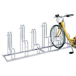 Fahrrad-Bügelparker, feuerverzinkt, Einstellplatz für 6 Fahrräder, einseitige Nutzung