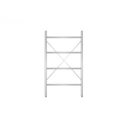 Aluminiumregal mit 4 geschlossenen Regalböden, Stecksystem, BxTxH 1000 x 500 x 1800 mm, Nutztiefe 440 mm