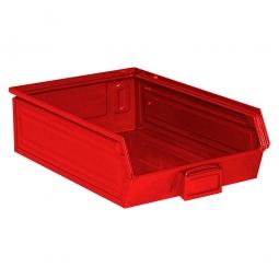 Sichtbox SB4 aus Stahlblech, 18 Liter, LxBxH 500/450 x 300 x 145 mm, rot