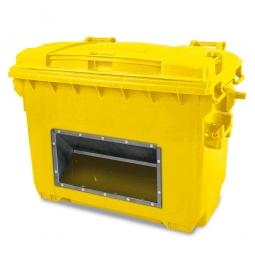 Streugutbehälter mit Entnahmeöffnung, Inhalt 660 Liter, gelb, BxTxH 1360 x 765 x 1000 mm