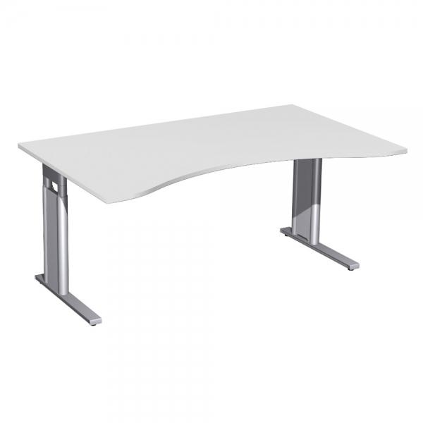 Schreibtisch Premium Hohenverstellbar Lichtgrau Silber Bxtxh