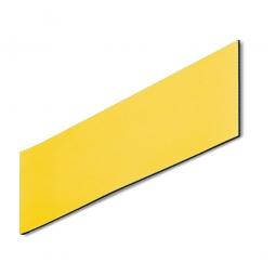 Magnetschilder, VE = 50 Stück, gelb, Zuschnitt BxH 100 x 40 mm, Materialstärke: 0,9 mm