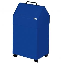 Wertstoffsammler, Inhalt 45 Liter, fahrbar, BxTxH 330x310x710 mm, enzianblau
