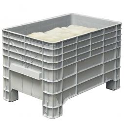 Mehlbox mit 4 Füßen, LxBxH 1030 x 630 x 670 mm, 276 Liter, grau