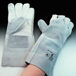 Schweißerhandschuhe, Gr. 10, Rindnarbenleder, Handrücken/Stulpe aus Spaltleder