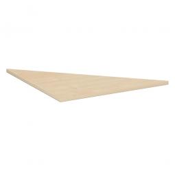 Verkettungsplatte, Dreieck 90° Komfort, Dekor Ahorn, BxT 800x800 mm