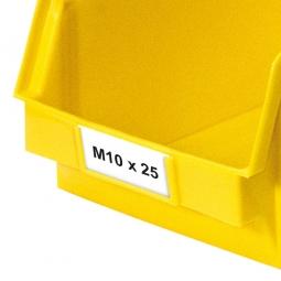 Beschriftungs-Etiketten für Sichtbox CLASSIC FB3Z, weiß, VE=100 Stück
