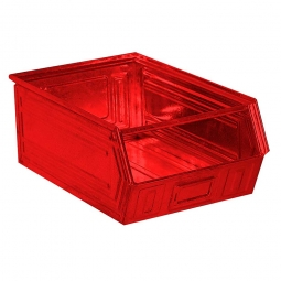 Sichtbox SB3 aus Stahlblech, 27 Liter, LxBxH 500/450 x 300 x 200 mm, rot