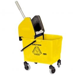 Reinigungswagen mit Mopp-Presse, gelb