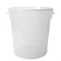Runder Lebensmittel-Behälter, Inhalt 21 Liter, mit Maßskala