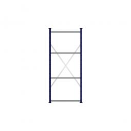 Fachbodenregal Flex mit 4 Fachböden, Stecksystem, kunststoffbeschichtet, BxTxH 870 x 315 x 2000 mm, Tragkraft 250 kg/Boden