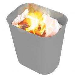 Feuerfester Abfallkorb aus Fiberglas, Inhalt 13 Liter, grau