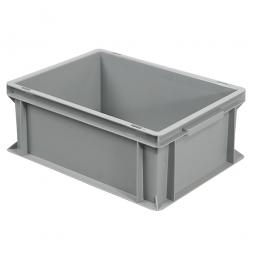 Euro-Geschirrkasten, LxBxH 400x300x170 mm, mit 2 Griffleisten, grau