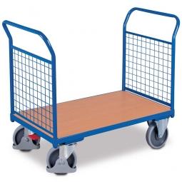 Zweiwandwagen mit Gitterwänden, LxBxH 1380x800x990 mm, Tragkraft 500 kg