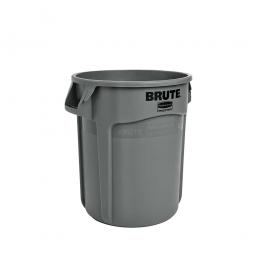 Runder Brute Container, 76 Liter, grau