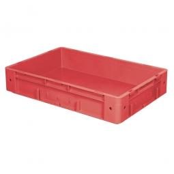 Schwerlast-Eurobehälter, geschlossen, PP, LxBxH 600x400x120 mm, 20 Liter, 2 Griffleisten, rot