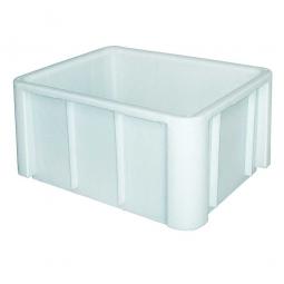 Schwerlast-Eurobehälter, LxBxH 800 x 600 x 405 mm, weiß, glatter Boden