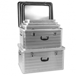 5x Aluminium-Behälter im Set, 39 - 141 Liter