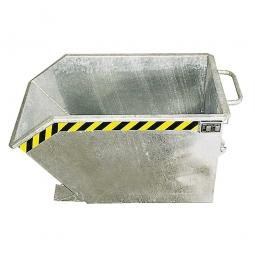 Kippbehälter, LxBxH 1440x1280x680 mm, verzinkt, Volumen 0,75 m³, Tragkraft 1000 kg, Gewicht 156 kg