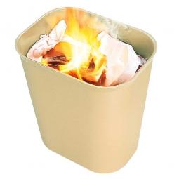 Feuerfester Abfallkorb, 6,6 Liter, beige, BxTxH 225x160x260 mm, Fiberglas, feuerfest