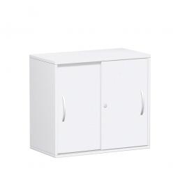 Schiebetürenschrank FLEX, 2OH, weiß, BxTxH 800x425x720 mm