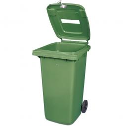 Müllbehälter mit Papiereinwurf, verschließbar, 240 Liter, grün
