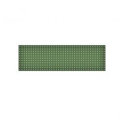 System-Lochplatte, BxH 1500x450 mm, Aus 1,25 mm Stahlblech, kunststoffbeschichtet in resedagrün