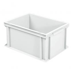 Eurobehälter mit 2 Griffleisten, LxBxH 400 x 300 x 220 mm, 21 Liter, weiß