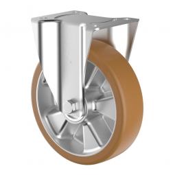 Schwerlast-Bockrolle, Polyurethan, Rad-ØxB 100 x 40 mm, Tragkraft 200 kg