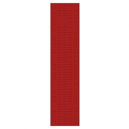 System-Schlitzplatte BxHxT 450x2000x18 mm, Aus 1,25 mm Stahlblech, kunststoffbeschichtet in verkehrsrot