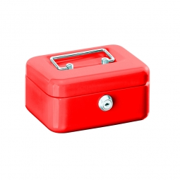 Geldkassette, rot, BxTxH 150x110x75 mm