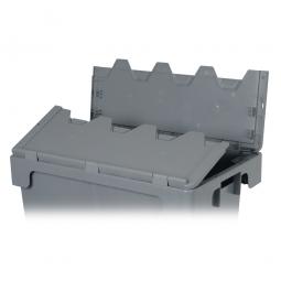 Klappdeckel für Drehstapelbehälter, Farbe: grau